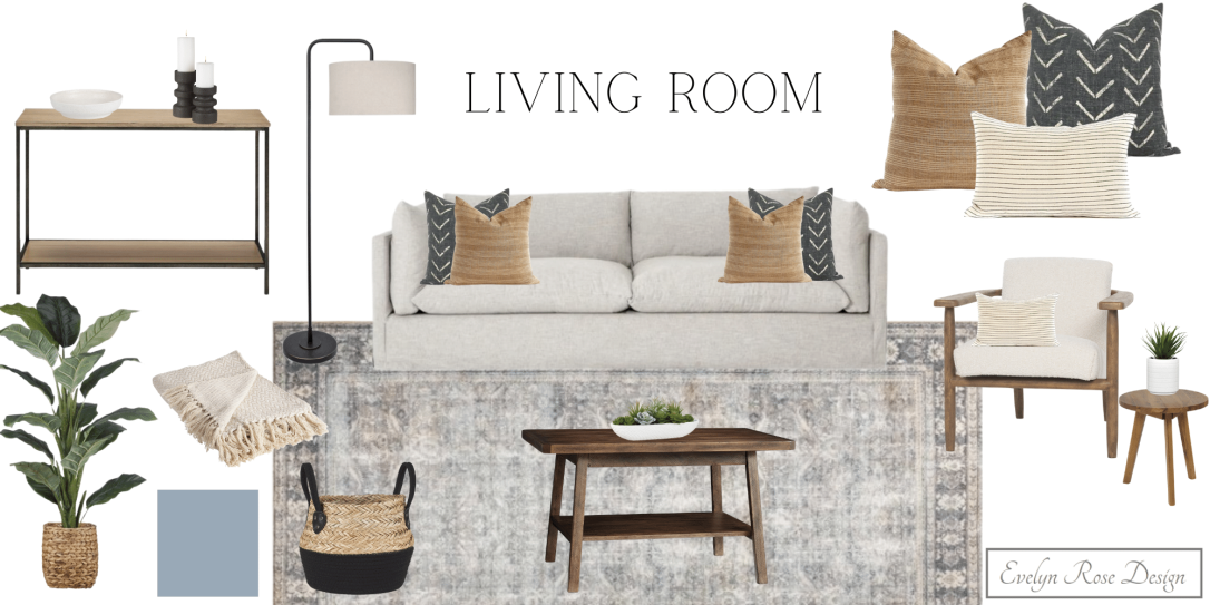 Living Room Mood board for ERD website